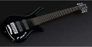 Warwick Rockbass Corvette Basic 6-String Bass active, Black High Polish