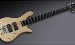Warwick Rockbass Streamer Standard 5-String Bass passive, Fretless, Natural
