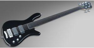 Warwick Rockbass Streamer Standard 5-String Bass passive, Fretless, Black High Polish