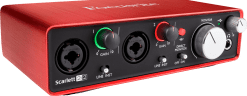 Focusrite Scarlet 2 2i2 usb audio interface